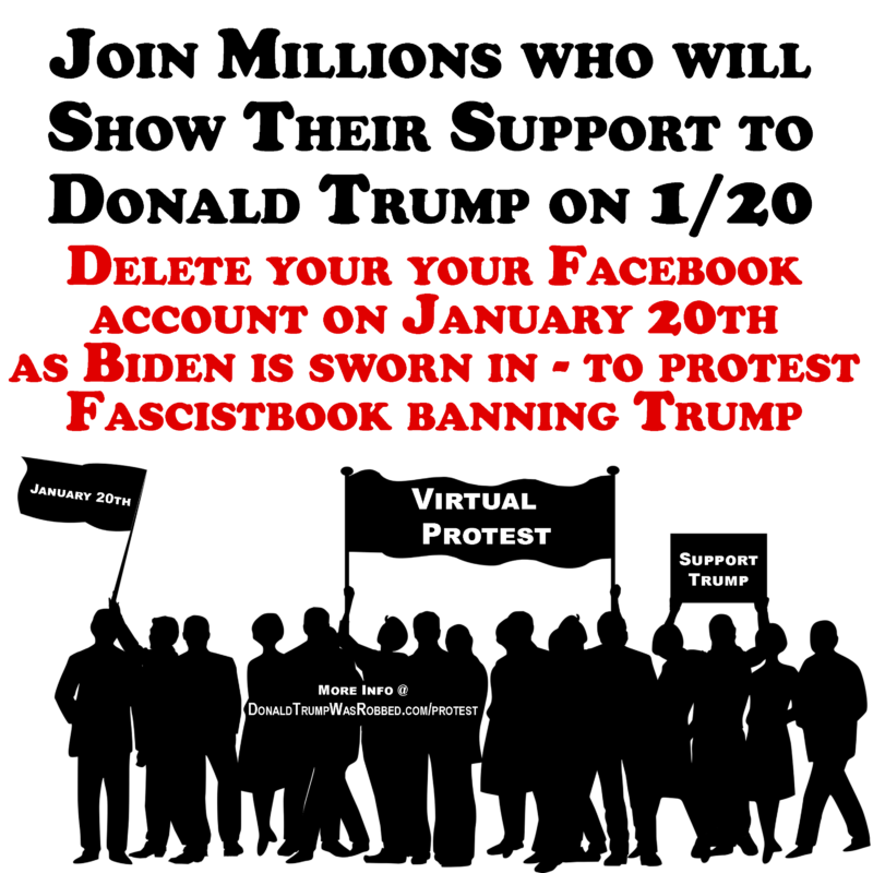 Millions to Support Trump on 1/20/21 With Virtual Protest